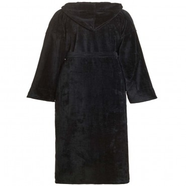 Terry Velour Hooded Bathrobe
