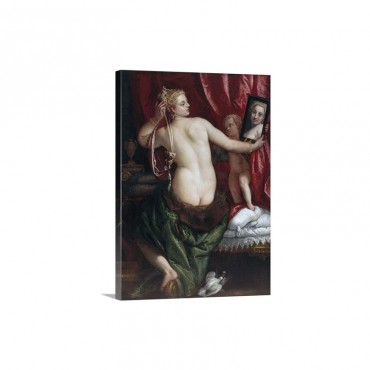 Venus With A Mirror Venus At Her Toilette By Paolo Veronese Wall Art - Canvas - Gallery Wrap