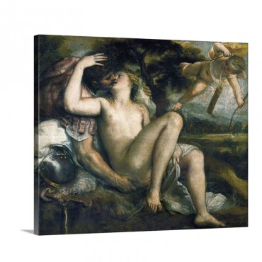 Venus And Mars With Cupid Wall Art - Canvas - Gallery Wrap