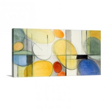 Very Retro Blue Wall Art - Canvas - Gallery Wrap