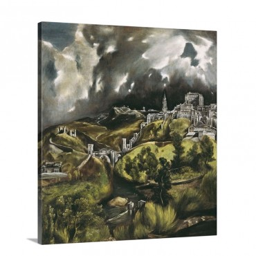 View Of Toledo Wall Art - Canvas - Gallery Wrap