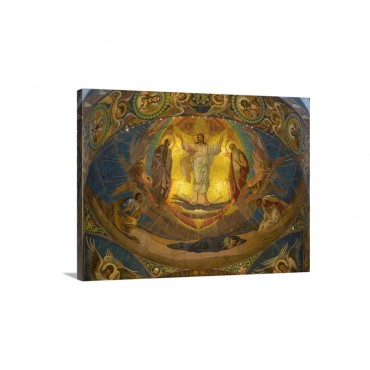 View Of Mosaic On Ceiling Church Of The Savior On Blood St Petersburg Russia Wall Art - Canvas - Gallery Wrap