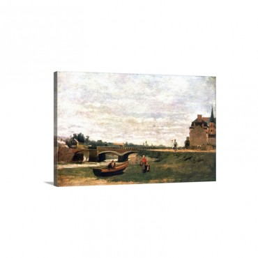 View Of The Village Painting Wall Art - Canvas - Gallery Wrap