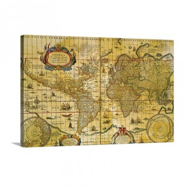 Vintage World Map Wall Art - Canvas - Gallery Wrap