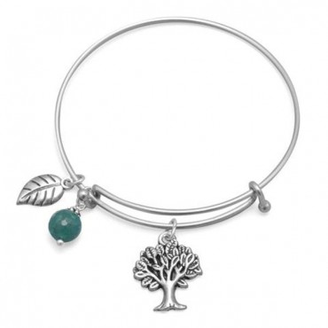 Expandable Tree Charm Fashion Bangle Bracele