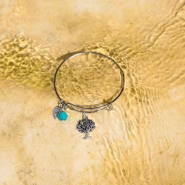 Expandable Tree Charm Fashion Bangle Bracele