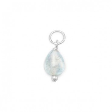 Aquamarine Charm - March Birthstone