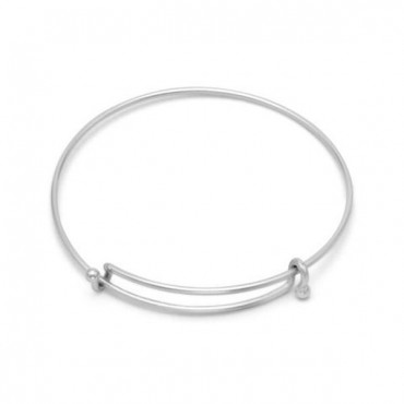 Silver Tone Expandable Wire Fashion Bangle