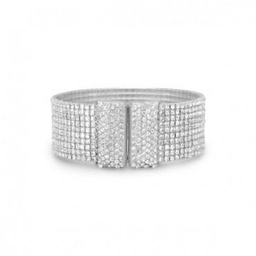 Glamorous Crystal Flex Cuff Fashion Bracelet
