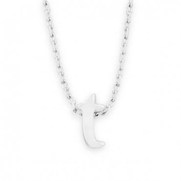 16 in. + 2 in. Rhodium Plated Brass Initial