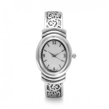 Oxidized Scroll Design Fashion Cuff Watch