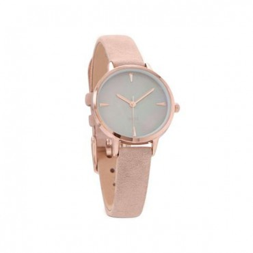 Blush Suede Rose Tone Fashion Watch