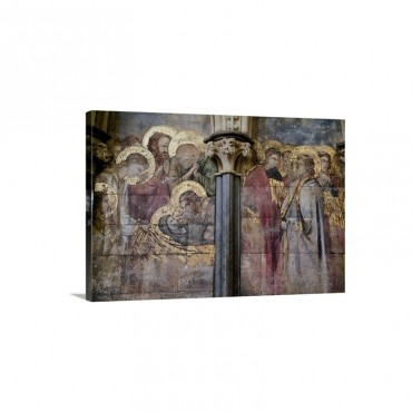 Wall Painting Chapter House Lincoln Cathedral Lincolnshire England UK Wall Art - Canvas - Gallery Wrap