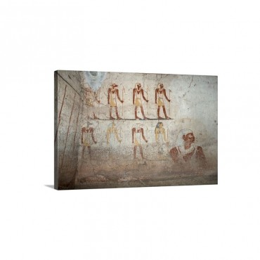 Wall Paintings In The Tomb Of King Tanwetamani Sudan Africa Wall Art - Canvas - Gallery Wrap