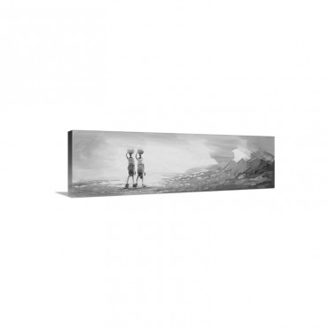 Water Fetchers I V Wall Art - Canvas - Gallery Wrap