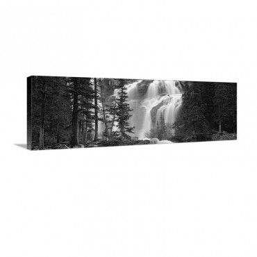 Waterfall In A Forest Banff Alberta Canada Wall Art - Canvas - Gallery Wrap