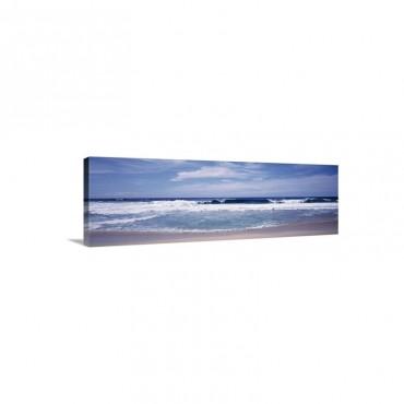 Waves Crashing On The Beach Big Sur Coast Pacific Ocean California Wall Art - Canvas - Gallery Wrap