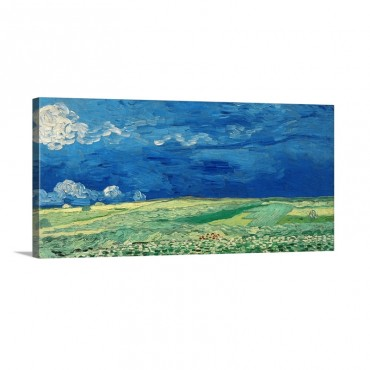 Wheatfields Under Thunderclouds 1890 Wall Art - Canvas - Gallery Wrap