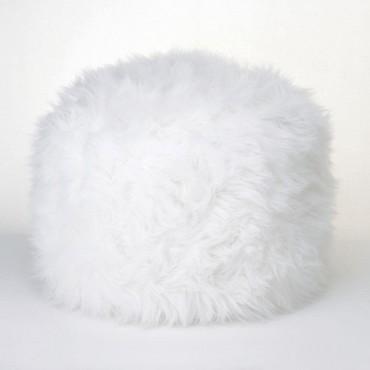 White Ottoman Pouf