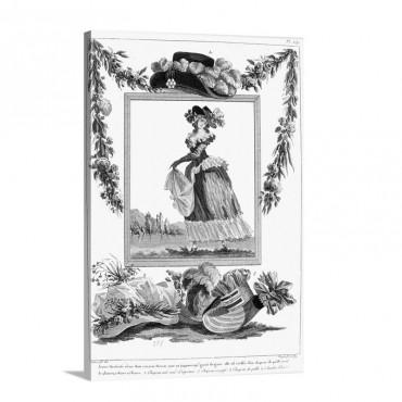 Women's Fashion C 1785 Wall Art - Canvas - Gallery Wrap
