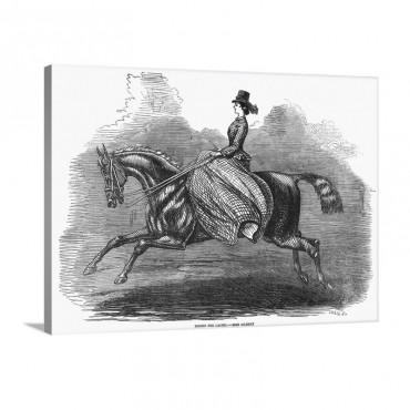 Women's Riding Costume 1858 Wall Art - Canvas - Gallery Wrap
