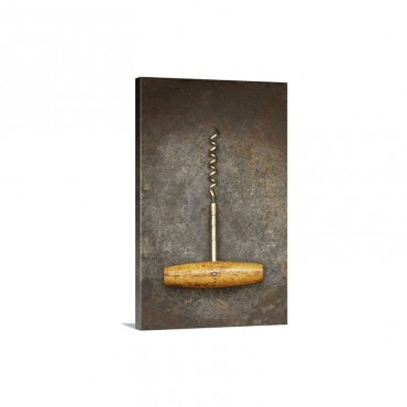 Wooden Handle Corkscrew Wall Art - Canvas - Gallery Wrap
