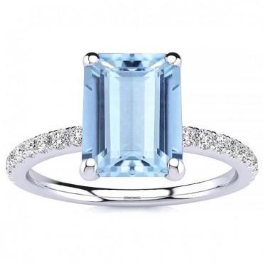 Yana Aquamarine Ring - White Gold