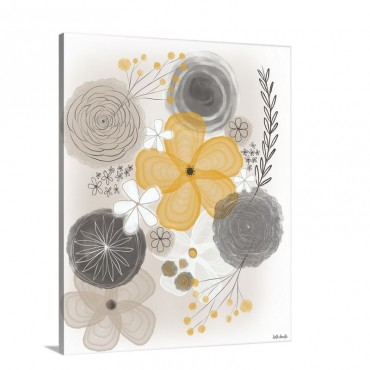 Yellow Floral I I Wall Art - Canvas - Gallery Wrap