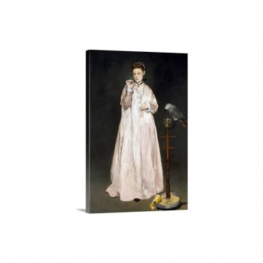 Young Lady In 1866 By Edouard Manet Wall Art - Canvas - Gallery Wrap
