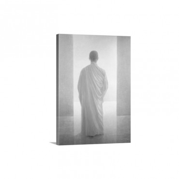 Young Monk Back View Vietnam Wall Art - Canvas - Gallery Wrap