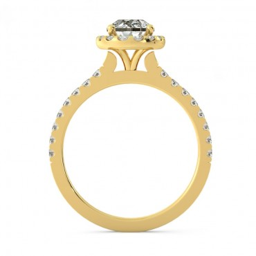Zoe Moissanite Ring - Yellow Gold