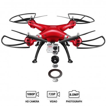 Syma X8HG 2.4Ghz 4CH 6 - Axis Gyro RC Quadcopter With HD Camera RTF
