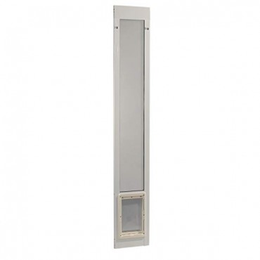 Ideal Pet Fast Fit Pet Patio Door Medium White Frame 77 Five Eighth To 80 Three Eighth Inches