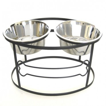 Bone Raised Double Dog Bowl Medium