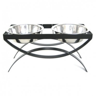 SeeSaw Double Elevated Dog Bowl Large