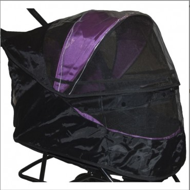 Weather Cover for Special Edition No Zip Pet Stroller Black