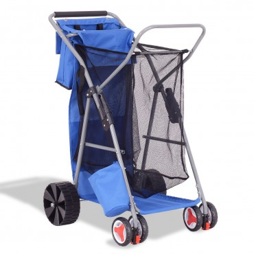 Deluxe Foldable Beach Wander Storage Trolley