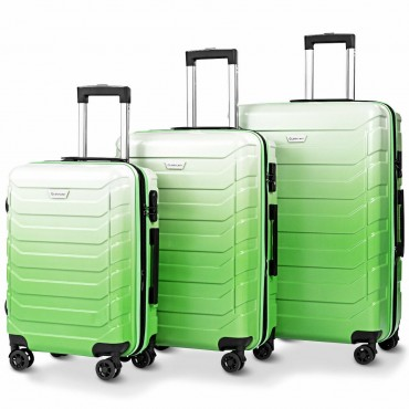 3 Pcs Spinner Expandable Suitcase With TSA Lock