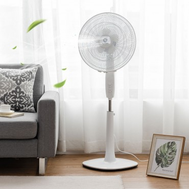Fantask 16 In. 3 Speed Double Blades Oscillating Pedestal Fan
