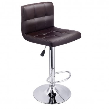 Set Оf 2 PU Leather Swivel Bar Stools Pub Chairs