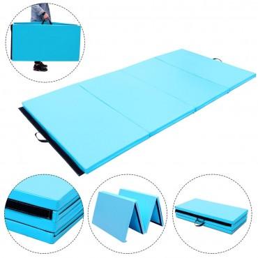 4 Ft. x 8 Ft. x 2 In. Gymnastics Mat Thick Folding Panel Aerobics Exercise Mat