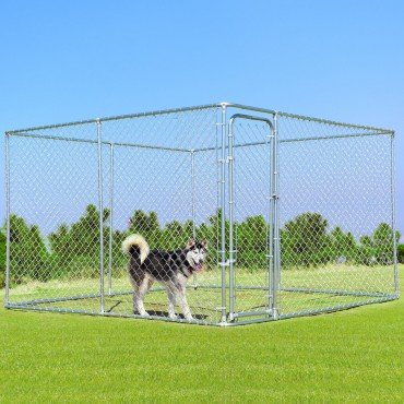 10 Ft.. x 10 Ft. Large Pet Dog Run House Kennel
