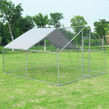Large Walk in Shade Cage Chicken Coop with Roof Cover