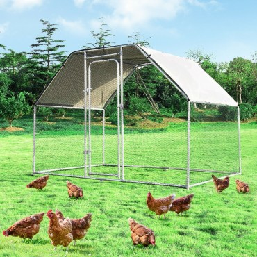 9.5 Ft. x 6.5 Ft. Large Walk In Chicken Run Cage