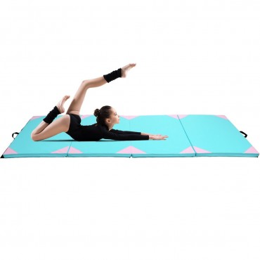 4 Ft. x 10 Ft. x2 In. Thick Gym Fitness Exercise Gymnastics Mat