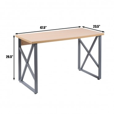 Wooden PC Laptop Table with Metal Legs