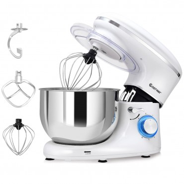6 Speed 6.3 Qt Tilt-Head Stainless Steel Electric Food Stand Mixer