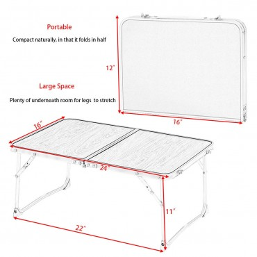 Portable Folding Tray Stand Laptop Notebook Table