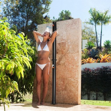 7.2 FT Solar Heated Hot / Cold Shower Spa W / Base