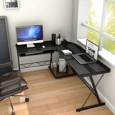 L-Shape Corner Computer Study Desk